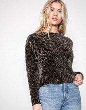 New Look Khaki Chenille Cropped Jumper