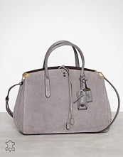 Coach Heather Grey Suede Cooper Carryall