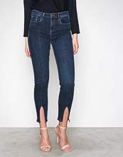 River Island Dark Blue Fashion Split Jeans