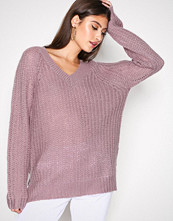 NLY Trend Lys lilla Loose Soft Knit Sweater