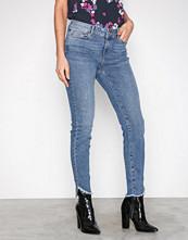 Vero Moda Blå Vmseven Nw s Uneven Ank Jeans BA389