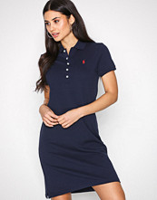 Polo Ralph Lauren Navy Short Sleeve Stretch Dress