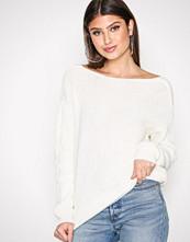 NLY Trend Hvit Tie Back Knit Sweater