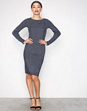 Jacqueline de Yong Mørk blå Jdyaldea L/S Dress Knt