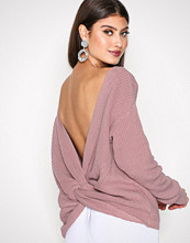 NLY Trend Lys rosa Tie Back Knit Sweater