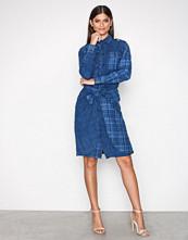 Polo Ralph Lauren Indigo Long Sleeve Linen Dress