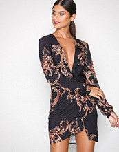 NLY One Mønstret Twist Slit Print Dress