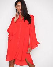 Vero Moda Rød Vmjade Flounce 3/4 Long Shirt FD17