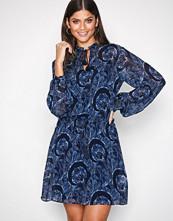 Polo Ralph Lauren Indigo Long Sleeve Viscose Dress
