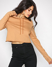 NLY Trend Beige Cut And Cropped Sweat