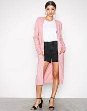 Vila Lys rosa Viril L/S Long Knit Cardigan-Noos