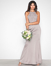 Little Mistress Oyster Lace Overall Maxi Dress