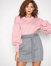 New Look Black Print Houndstooth Paperbag Mini Skirt