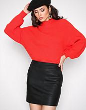 Only Svart onlBASE Lg Faux Leater Skirt Otw