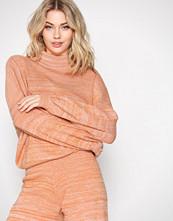 Selected Femme Orange Sfstefania Ls Knit Highneck Ex