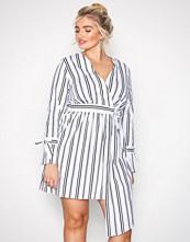 River Island Stripes Long Sleeve Waisted Dress
