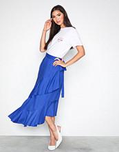 NLY Trend Blå Frill Wrap Skirt