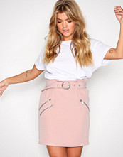 NLY Trend Lys rosa Belted Waist Skirt