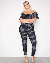 NLY One Stripete Frill Jumpsuit