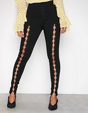 Missguided Black High Waist Skinny Jeans