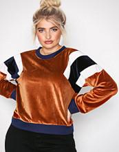 NLY Trend Rust Color Block Velvet Sweat