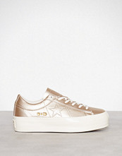 Converse Light Gold One Star Platform