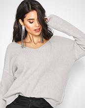 NLY Trend Lys grå Lace Back Knit