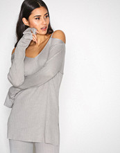 NLY Trend Lys grå Open Shoulder Knit