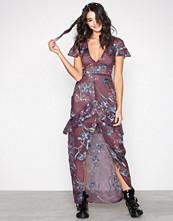 For Love & Lemons Violet Cleo Floral Maxi Dress