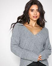 NLY Trend Grey Melange Front Wrap Knit