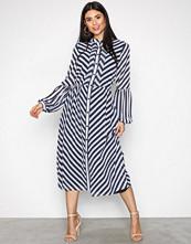 Michael Kors navy/white Bias Stripe Midi Dress