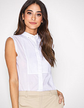 Filippa K White Tuxedo Sleeveless Shirt