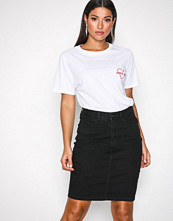 Vero Moda Svart Vmhot Nine Hw Dnm Pencil Skirt Mix