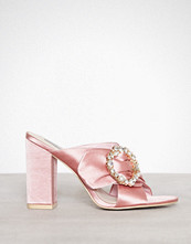 NLY Shoes Rosa Satin Embellished Mule
