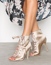 NLY Shoes Champagne Open Toe Bootie