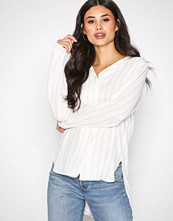 Selected Femme Offwhite Slfdynella Stripe Ls Shirt