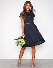 NLY Trend Navy Skater Trim Dress