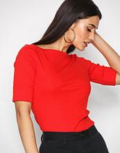 Lauren Ralph Lauren Red Judy Elbow Sleeve Knit