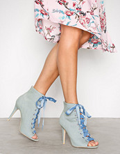 NLY Shoes Denim Open Toe Bootie
