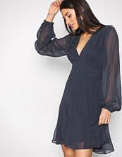 Polo Ralph Lauren Blue Multi Round Neck Long Sleeve Dress
