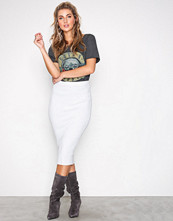 Missguided Grey Knitted Midi Pencil Skirt