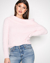 NLY Trend Lys rosa Cosy Off Shoulder Knit