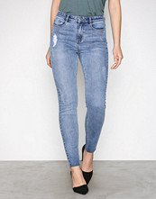 Missguided Blue Skinny Highwaisted Vintage Jeans