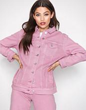 Only Lys lilla onlEVA Oversized Pink Dnm Jacket Bj