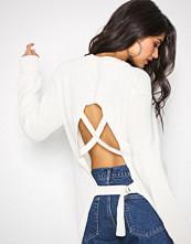 NLY Trend Hvit Detailed Back Knit