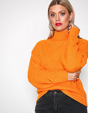 Pieces Orange Pcroyce Ls Knit D2D