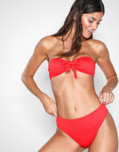 Missguided Red Bow Bandeau Bikini Set