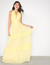 By Malina Lemon Allegra Silk Chiffon Dress