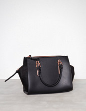 New Look Black Metallic Trim Tote Bag