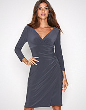 Lauren Ralph Lauren Grey Elsie 3/4 Sleeve Day Dress